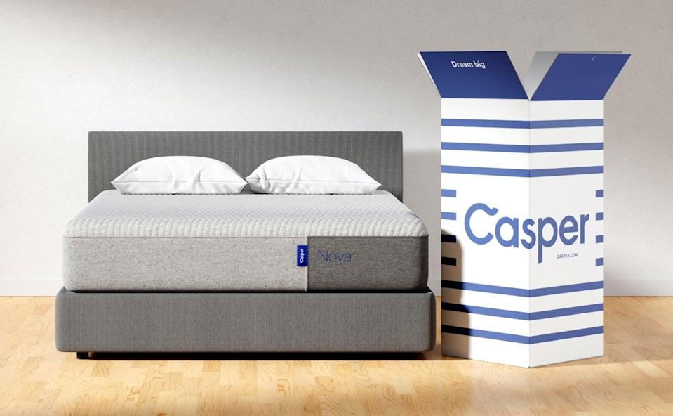 """<p>If you're in the market for a new mattress, then you'll be excited to know you can score the <span>Casper Nova Mattress</span> ($767-$1,537, originally $1,095-$2,195) on discount. It's <a href=""""https://www.popsugar.com/home/casper-nova-hybrid-mattress-review-47346673"""" class=""""link rapid-noclick-resp"""" rel=""""nofollow noopener"""" target=""""_blank"""" data-ylk=""""slk:an editor-favorite pick"""">an editor-favorite pick</a>, and is great for people who need back support.</p>"""