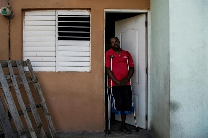 Boulva Verly, 42, lost his leg during the January 2010 earthquake that killed more than 200,000 people in Haiti (AFP Photo/CHANDAN KHANNA)