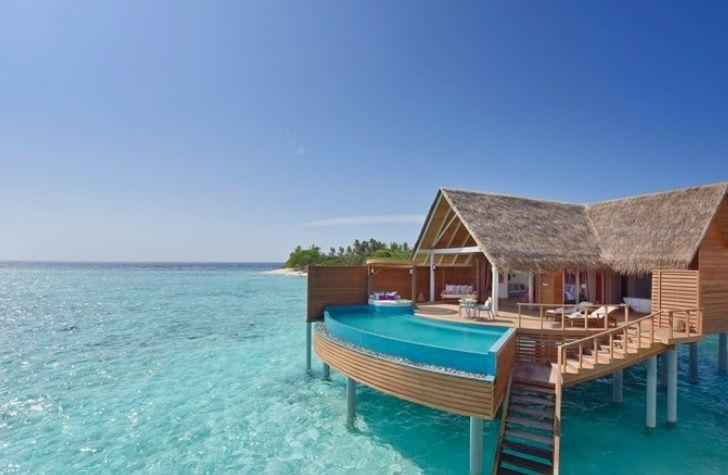 """<p>It wouldn't be a private pools round-up without at least one stilted Maldives villa in the sea now, would it?</p><p>Book via: <a href=""""https://www.emiratesholidays.com/gb_en/hotels/maldives/maldives/milaidhoo-island/milaidhoo-island-maldives.html?tm=1"""" rel=""""nofollow noopener"""" target=""""_blank"""" data-ylk=""""slk:Emirates Holidays"""" class=""""link rapid-noclick-resp"""">Emirates Holidays</a></p>"""