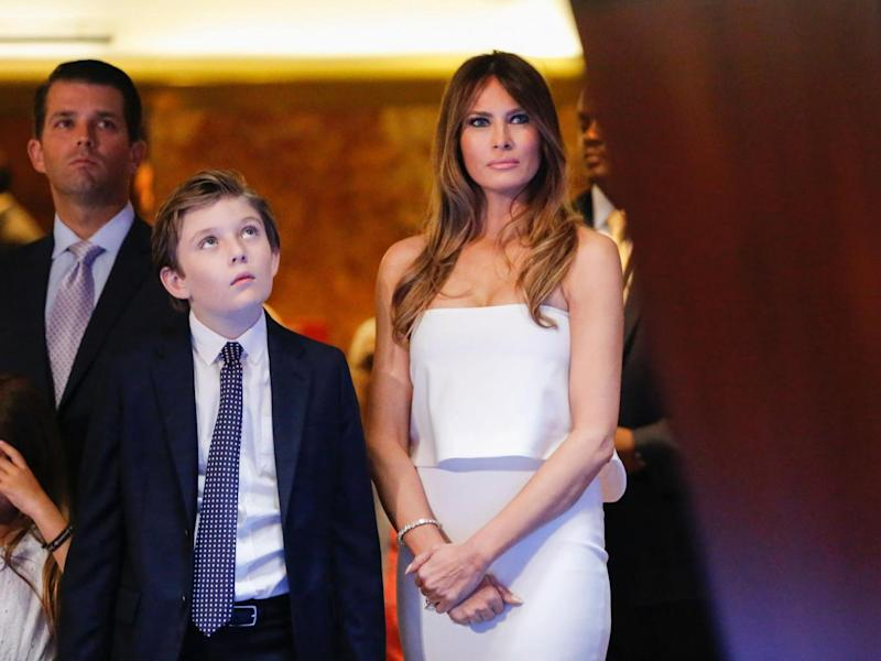 The security costs for Melania and Baron Trump to live in Trump Tower instead of the White House could maintain two education programmes facing elimination: Getty