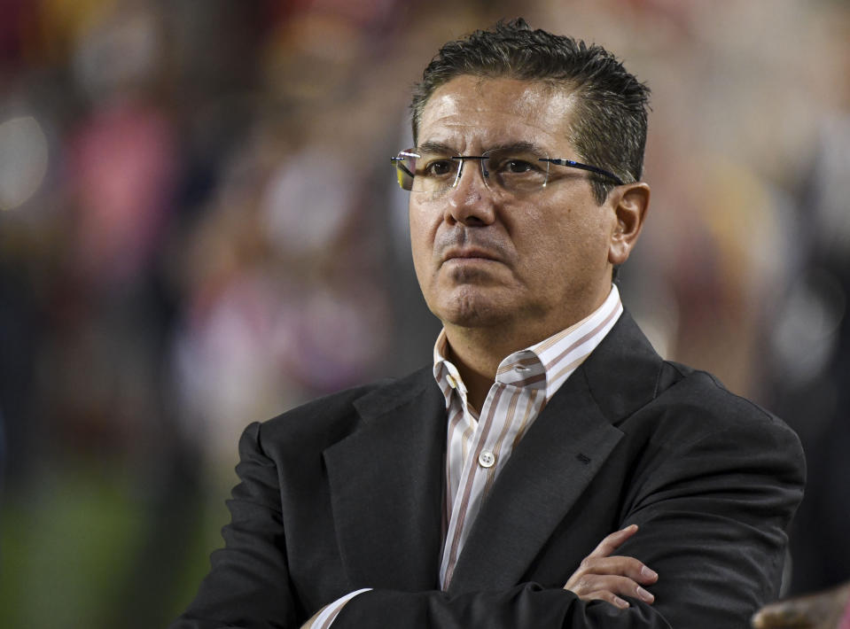 "Washington team owner Daniel Snyder is expected to announce that the ""Redskins"" moniker will be retired as early as Monday. (Photo by Jonathan Newton / The Washington Post via Getty Images)"