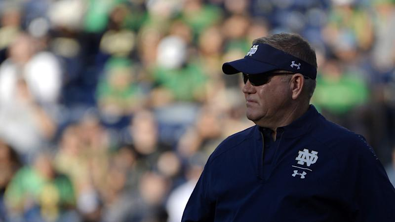 Notre Dame, head coach Brian Kelly agree to contract extension through 2024
