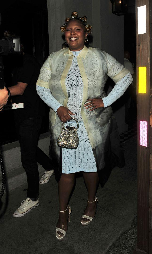 Lizzo joins friends for dinner at Craig's restaurant in Los Angeles on July 1. - Credit: twoeyephotos/MEGA