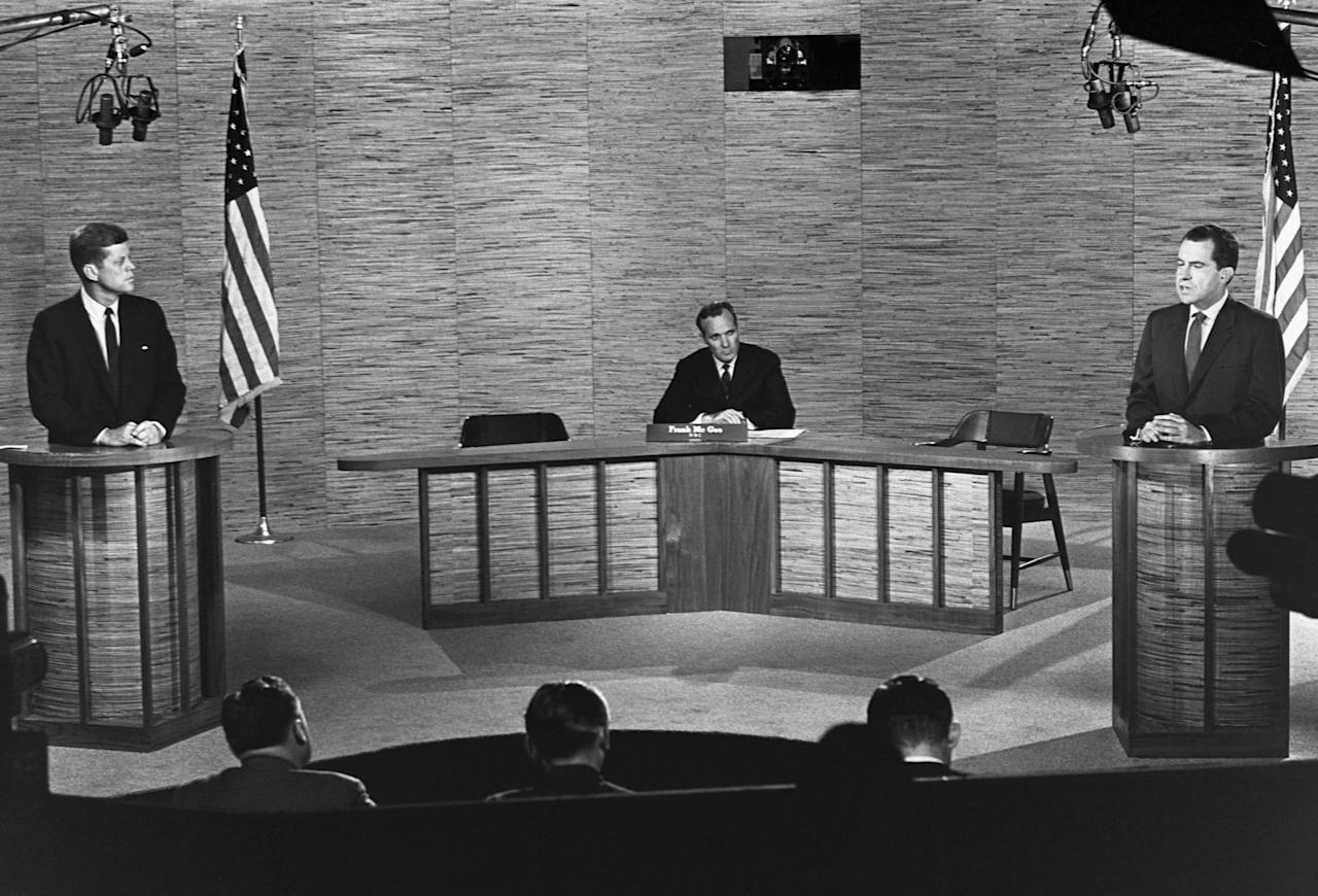 <p>It wasn't until 1960 that America witnessed a political standoff between Democratic and Republican presidential candidates during the first televised debate. Since then, a lot has evolved and changed—but the ability for the forum to make or break a candidate's campaign has remained the same. Ahead of the 2020 election, take a look back at the past 60 years of political face-offs.</p>