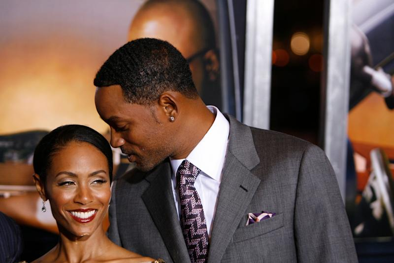 """Will Smith and Jada Pinkett Smith at the premiere of """"Lakeview Terrace"""" in New York on Sept. 15, 2008. (Photo: Lucas Jackson/Reuters)"""