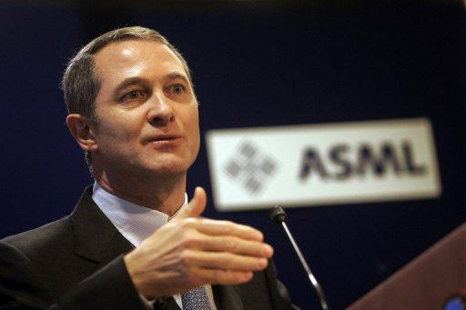 "Eric Meurice, Chief Executive Officer of ASML Holding, at a press conference in Amsterdam in 2007. ""We are extremely encouraged that Intel has made these investments, which will benefit every semiconductor manufacturer in the industry,"" Meurice said in a release"