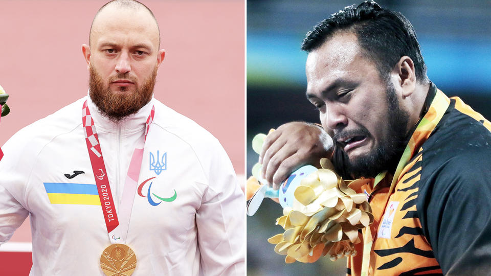 Maksym Koval, pictured here with the gold medal after Muhammad Ziyad Zolkefli was stripped.