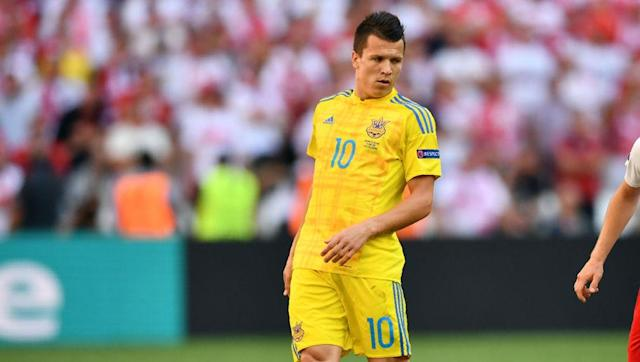 <p><strong>Alternative option: Andriy Yarmolenko (Ukraine)</strong></p> <br><p>There was a time when Ukraine looked to have two of the brightest young prospects in European football in Konoplyanka and Yarmolenko, but the latter's continued presence at Dynamo Kyiv has allowed the former's career to really take off instead. Konoplyanka, now at Schalke on loan from Sevilla, will be the exciting wing option for this Soviet XI.</p>