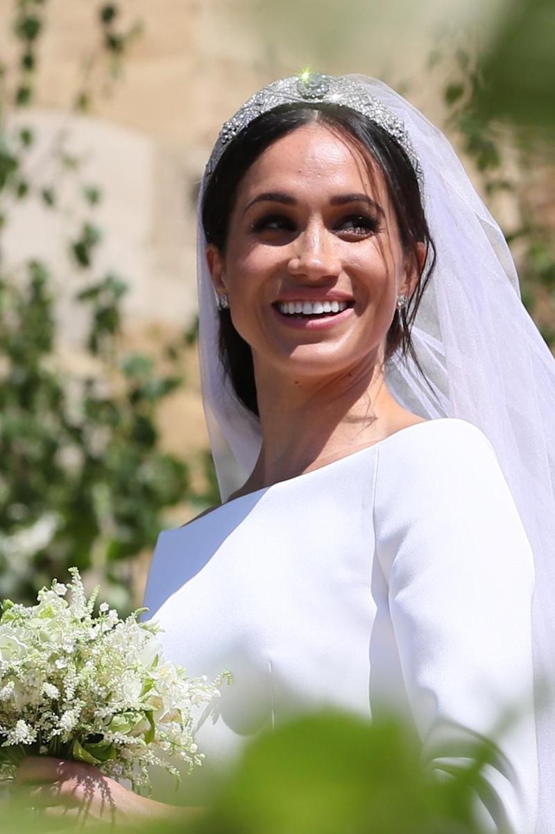 Bride: Meghan did not invite members of her extended family to the wedding (PA)