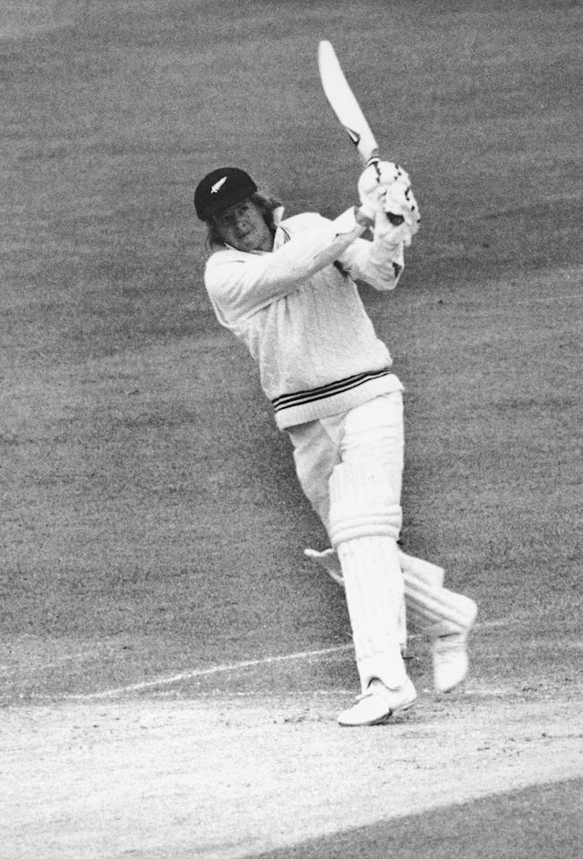 New Zealand cricket captain Glenn Turner batting, circa 1973.  (Photo by Central Press/Hulton Archive/Getty Images)