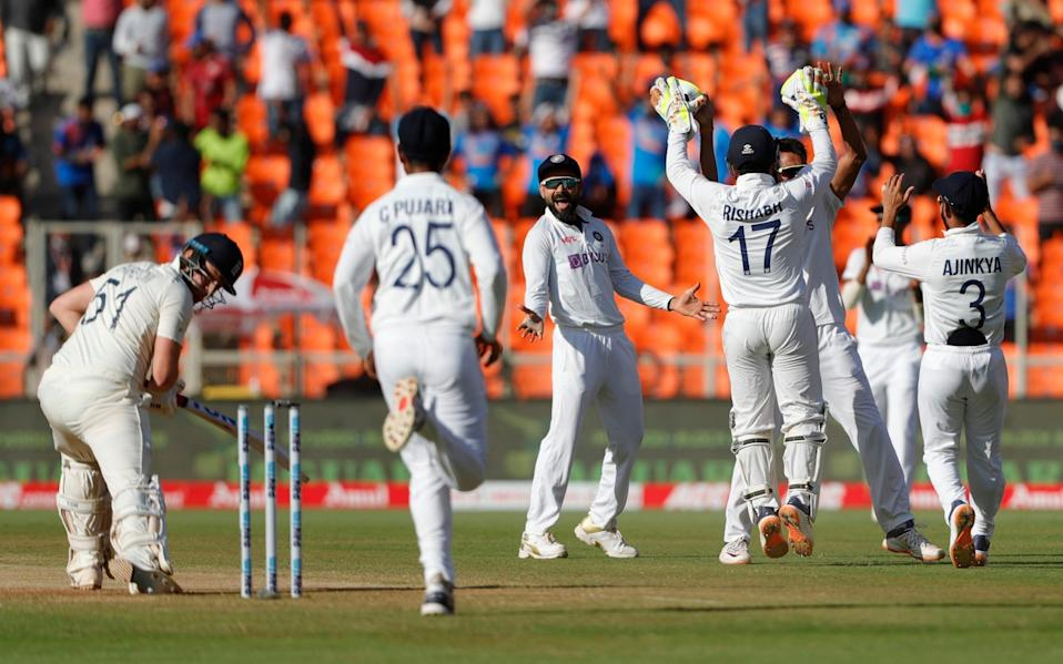 Jonny Bairstow was bowled for a duck to leave England staring into the abyss at 0-2 - BCCI