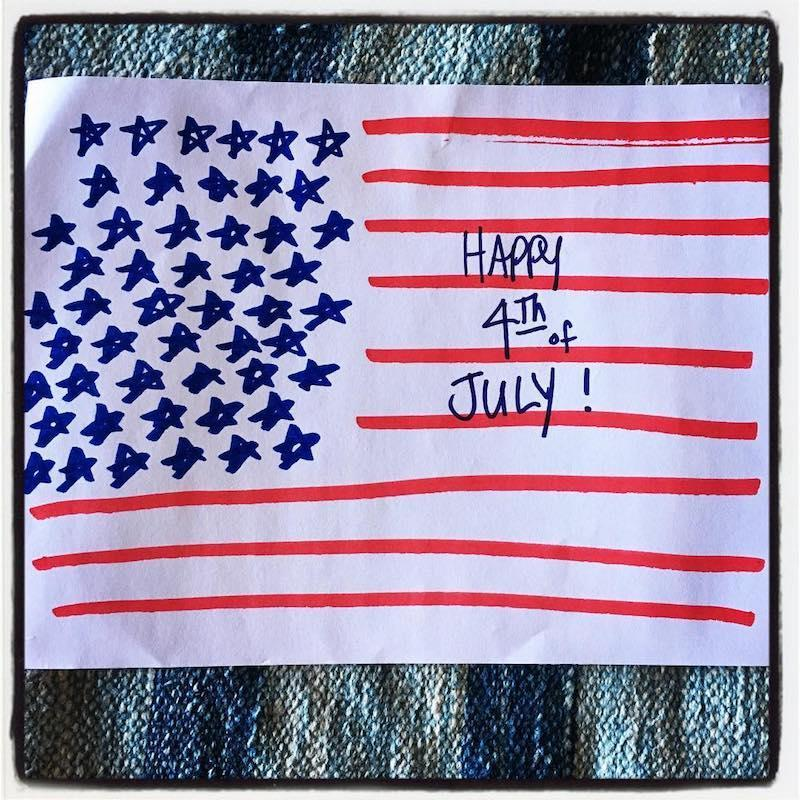 """<p>We can't help but wonder if Rita Wilson <em>actually</em> made this.""""Happy 4th of July!! Please ignore the inaccuracies of this impromptu creation! It's the spirit , people,"""" she exclaimed. (Photo: Rita Wilson <a rel=""""nofollow noopener"""" href=""""https://www.instagram.com/p/BWIBrh8jZu-/"""" target=""""_blank"""" data-ylk=""""slk:via Instagram"""" class=""""link rapid-noclick-resp"""">via Instagram</a>) </p>"""