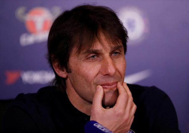 Soccer Football - Premier League - Chelsea - Antonio Conte Press Conference - Chelsea FC Training Ground, London, Britain - February 23, 2018 Chelsea manager Antonio Conte during the press conference Action Images via Reuters/Andrew Boyers