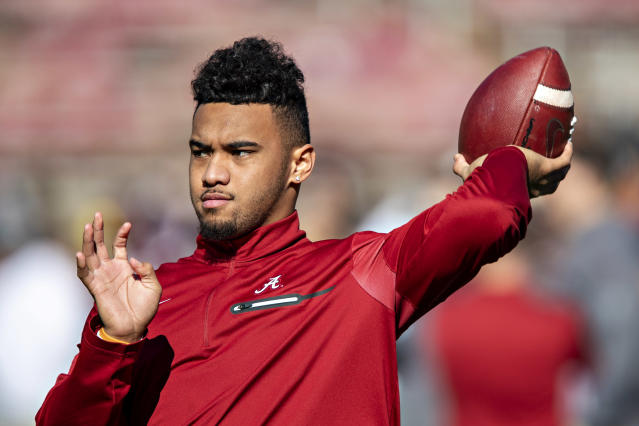 Tua Tagovailoa has found his NFL home. (Wesley Hitt/Getty Images)