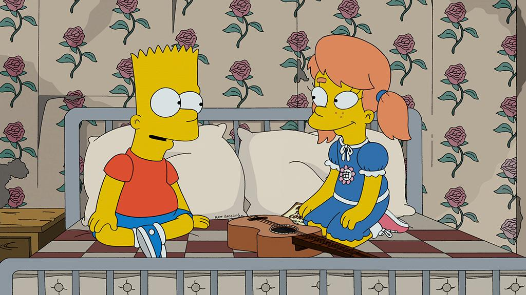 "Bart's heart strings are pulled once again when Mary Spuckler (guest voice Zooey Deschanel) returns to Springfield in the ""Love is a Many Splintered Thing"" episode of ""The Simpsons"" airing Sunday, Feb. 10 (8:00-8:30 PM ET/PT) on FOX."
