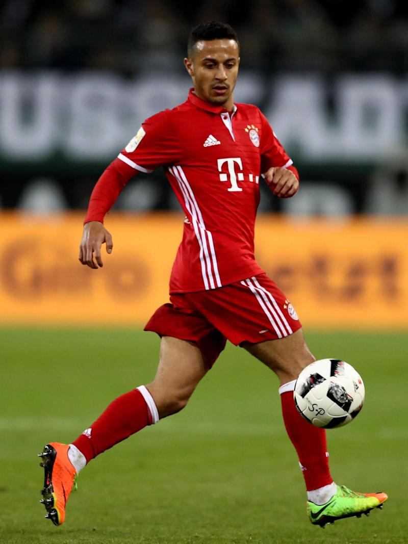 Thiago has emerged as a key player for Bayern (Getty)