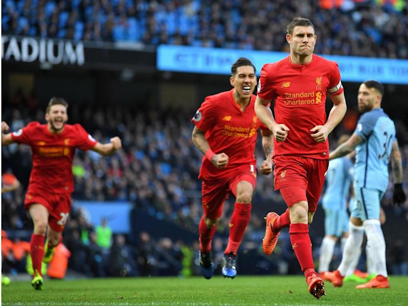 Milner refused to celebrate after scoring a penalty (Getty )