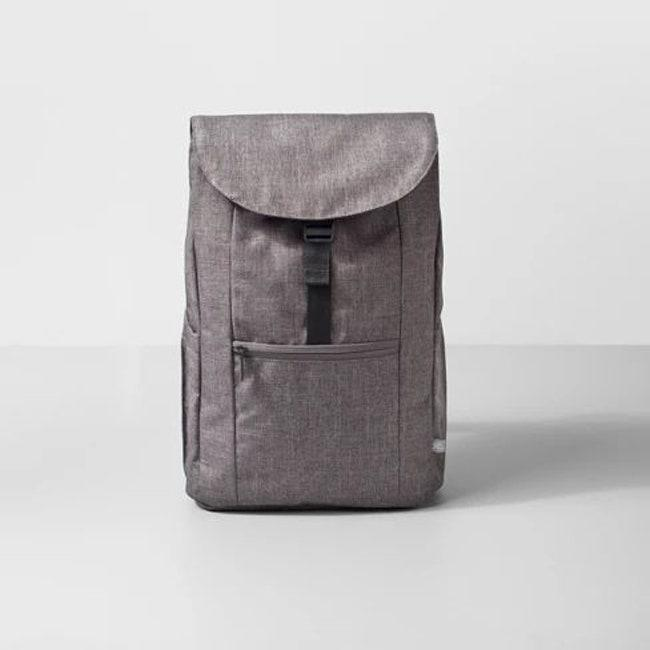 """Make Target your one-stop shop for all things back to school, and cop this minimalist backpack there. $37, Target. <a href=""""https://www.target.com/p/backpack-17-3-heather-gray-made-by-design-153/-/A-53785760"""" rel=""""nofollow noopener"""" target=""""_blank"""" data-ylk=""""slk:Get it now!"""" class=""""link rapid-noclick-resp"""">Get it now!</a>"""