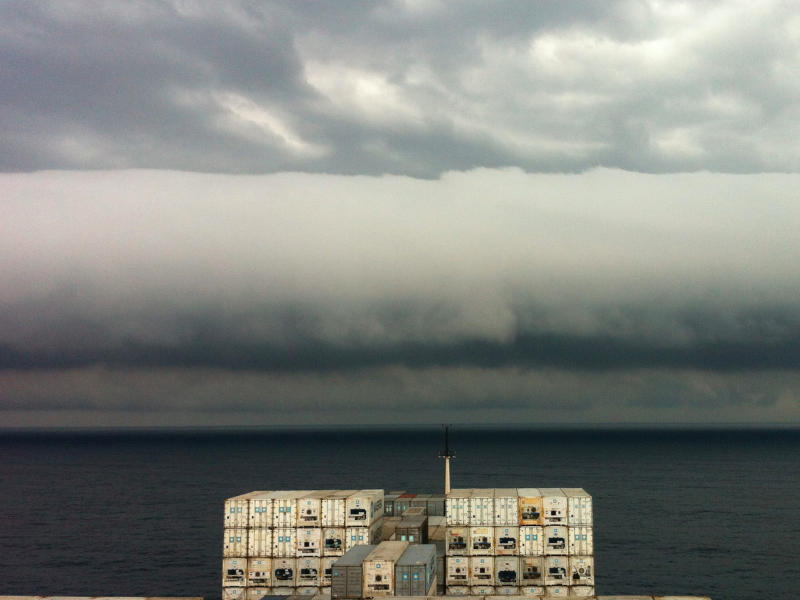 Photo of a roll cloud taken by Capt. Andreas M. van der Wurff near Brazil on Feb. 6.