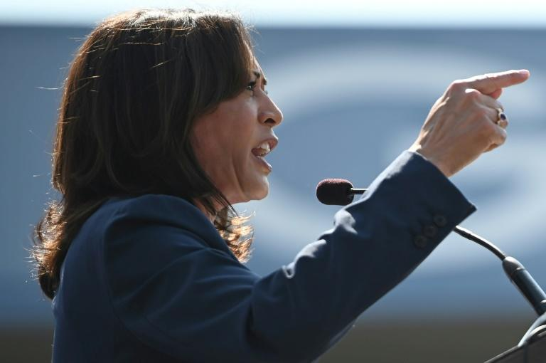 Democrat presidential hopeful Kamala Harris has yet to gain significant ground in the early months of the 2020 contest (AFP Photo/Robyn Beck)