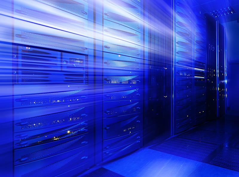 Stylized picture of a data center