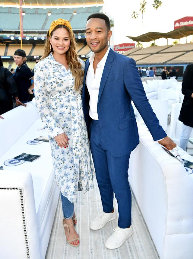 Chrissy Teigen and John Legend got real about parenting on social media. (Photo: Emma McIntyre/Getty Images for Los Angeles Dodgers Foundation)