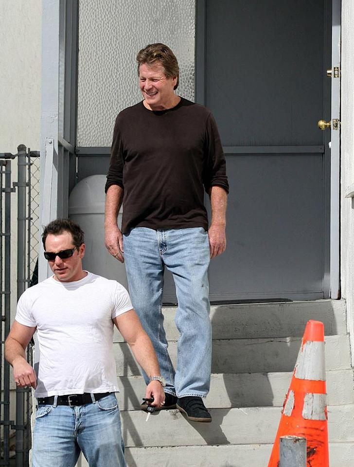 "Ryan O'Neal after being arrested for shooting at his son Griffin. MWD-Green/<a href=""http://www.x17online.com"" target=""new"">X17 Online</a> - February 7, 2007"