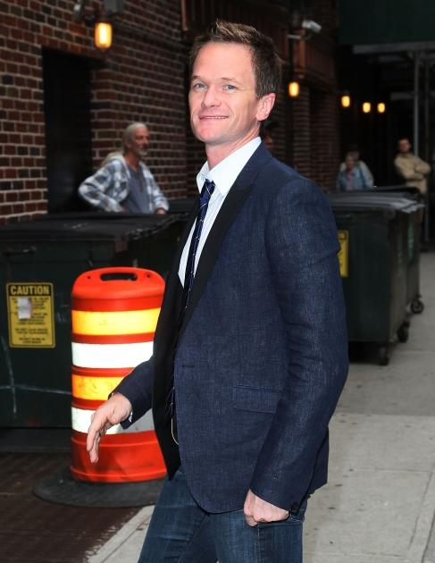 Neil Patrick Harris arrives to 'Late Show with David Letterman' at Ed Sullivan Theater, New York City, on June 5, 2012 -- Getty Premium