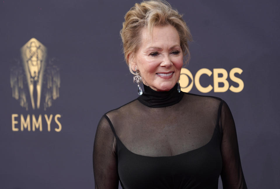 Jean Smart arrives at the 73rd Primetime Emmy Awards on Sunday, Sept. 19, 2021, at L.A. Live in Los Angeles. (AP Photo/Chris Pizzello)