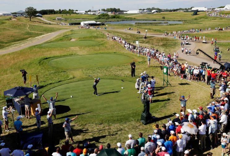 Play continues in the second round of the U.S. Open at Erin Hills. (Getty)