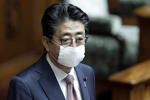 Japan's Prime Minister Shinzo Abe is promoting Avigan as a potential treatment for Covid-19. Photo: Bloomberg