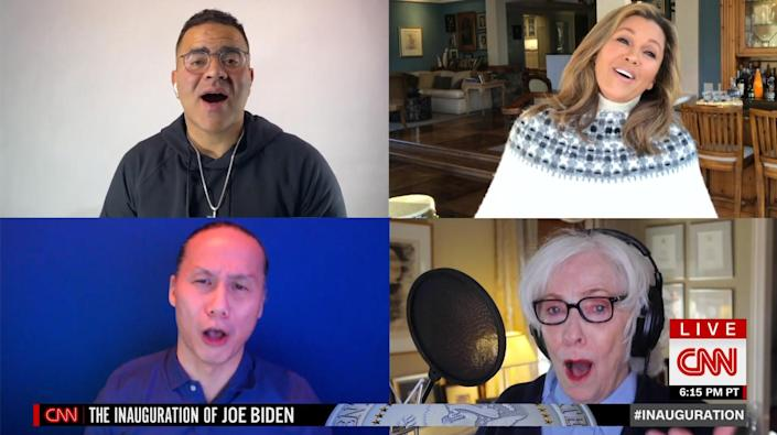 """<p>Broadway stars harmonized together on <em>Rent</em>'s most famous number, """"Seasons of Love,"""" before breaking out into The 5th Dimension's """"Let the Sunshine In.""""</p>"""