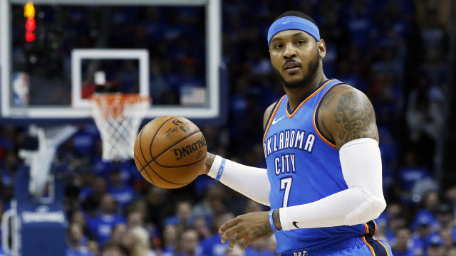 "<a class=""link rapid-noclick-resp"" href=""/nba/players/3706/"" data-ylk=""slk:Carmelo Anthony"">Carmelo Anthony</a> will try to do in Houston what he could not for Oklahoma City. (AP)"