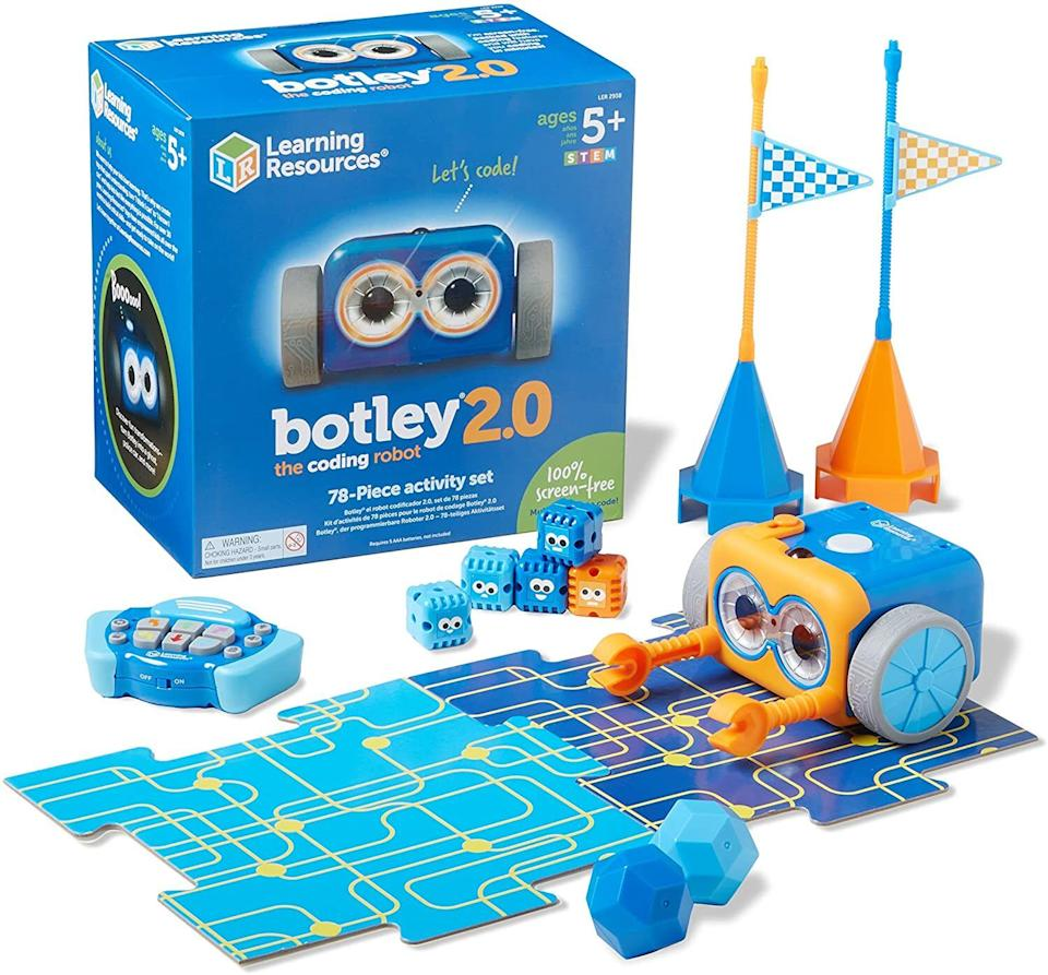 """It's never too early to get the kids into coding. Botley can be programmed to follow a sequence of up to 150 steps including following plotted courses and avoiding obstacles. The best part: It's all screen-free!<br /><br /><strong>Promising review:</strong>""""I purchased this toy for my daughter who just turned 5. She absolutely loves playing with Botley and the coding is very straightforward and easy for her to understand.<strong>She loves that she is able to program different codes to turn Botley into a frog, train, ghost, and more. I love that she is able to learn how to program things in a sequence and use if/then logic when playing.</strong>This is a great toy for children who love to learn about technology, and I love that it's a screen-free activity that encourages children to use their thinking cap and imagination during playtime!"""" --<a href=""""https://www.amazon.com/dp/B083T58PKM?tag=huffpost-bfsyndication-20&ascsubtag=5764152%2C32%2C40%2Cd%2C0%2C0%2C0%2C962%3A1%3B901%3A2%3B900%3A2%3B974%3A3%3B975%3A2%3B982%3A2%2C15993690%2C0"""" target=""""_blank"""" rel=""""noopener noreferrer"""">Southern Made Simple</a><br /><br /><strong>Get it from Amazon for <a href=""""https://www.amazon.com/dp/B083T58PKM?tag=huffpost-bfsyndication-20&ascsubtag=5764152%2C32%2C40%2Cd%2C0%2C0%2C0%2C962%3A1%3B901%3A2%3B900%3A2%3B974%3A3%3B975%3A2%3B982%3A2%2C15993690%2C0"""" target=""""_blank"""" rel=""""noopener noreferrer"""">$73.91</a>.</strong>"""