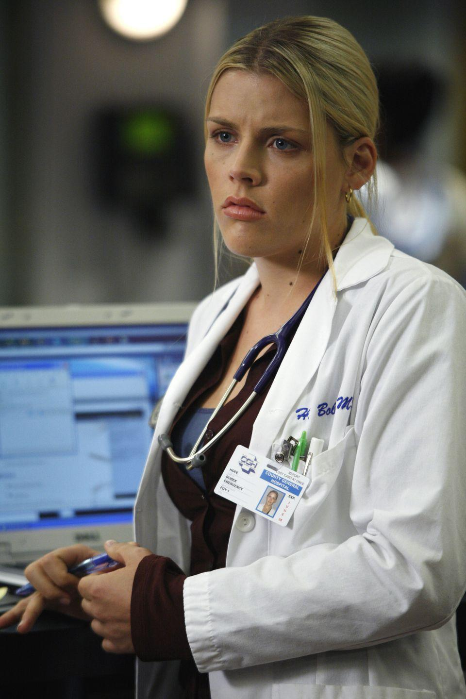 <p>From 2006 until 2007, Busy Philipps joined the medical staff at County General as Dr. Hope Bobeck. The actress had already gained notoriety on shows like <em>Freaks and Geeks </em>and <em>Dawson's Creek</em>. </p>