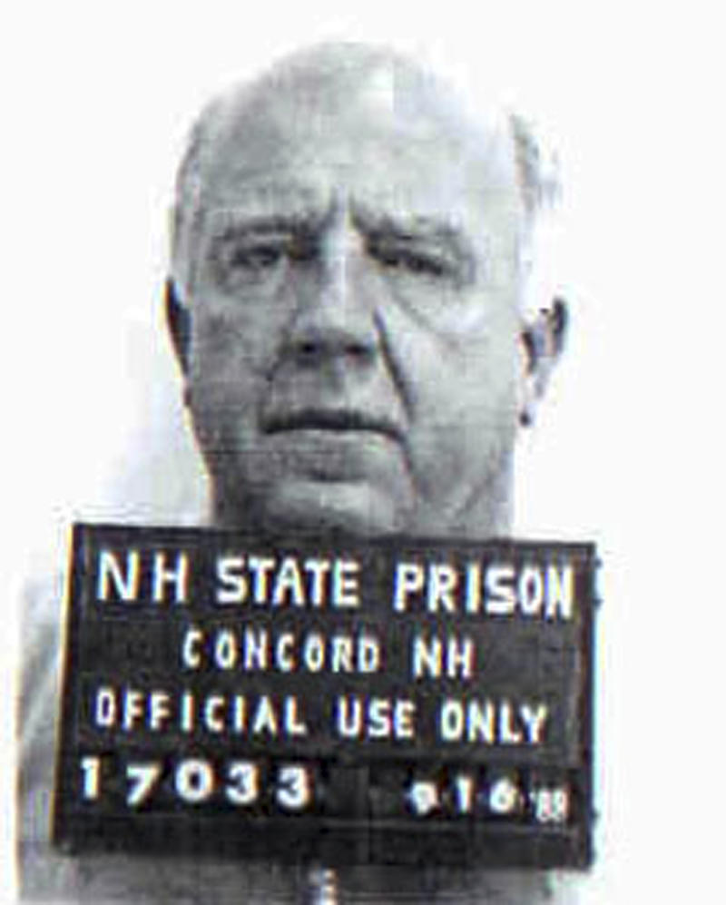 This black and white inmate booking photo released by the New Hampshire Department of Corrections shows William P. Coyman, of Boston, who had been sentenced to prison for theft and drug possession. In August 2011, Coyman, who had a criminal history dating back to 1955, collapsed on the platform as he stepped off an Amtrak train at Pennsylvania Station in New York City and died.  As medics tried to revive him, police searched his backpack for identification, and found $179,980 in cash bundled with rubber bands and tucked inside two plastic bags.  (AP Photo/New Hampshire Department of Corrections)