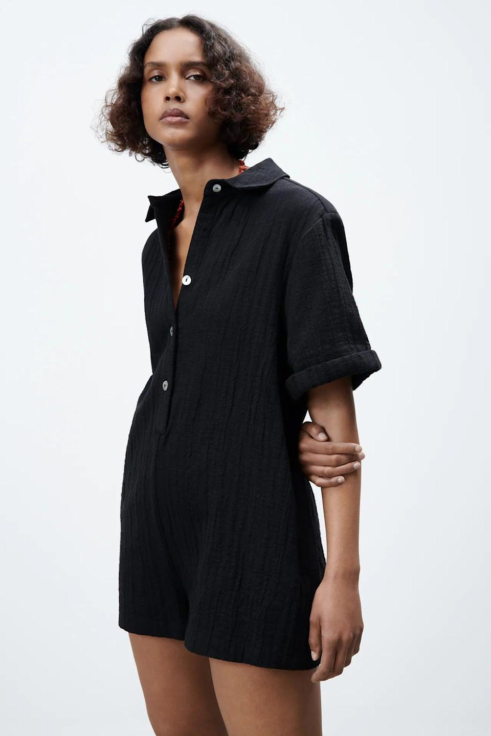 <p>This <span>Textured Short Jumpsuit</span> ($50) has a relaxed yet put-together fit.</p>