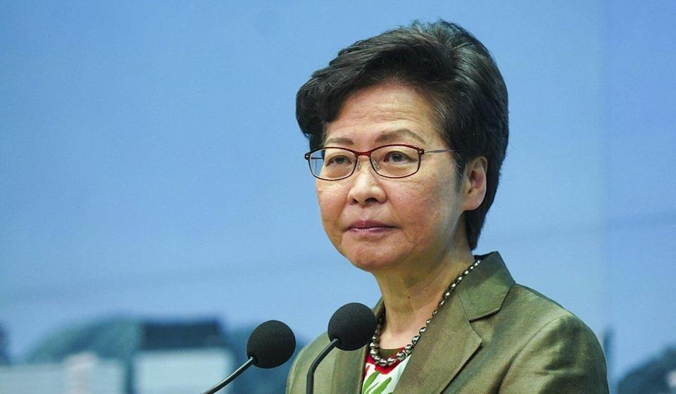 Chief Executive Carrie Lam speaks to the press on Tuesday. Photo: Sam Tsang