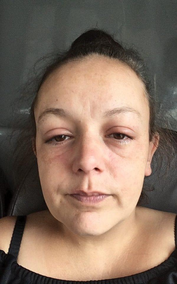 Lyndsey Webb, 34, pictured on her release from police custody after being accused of dumping black bin bags - Lyndsey Webb/Lyndsey Webb