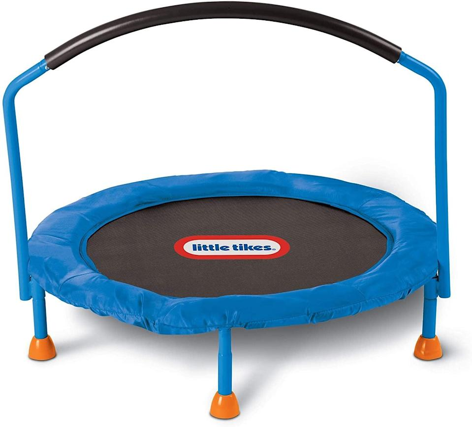 <p>The <span>Little Tikes 3' Trampoline</span> ($60) will keep your kids active and occupied.</p>