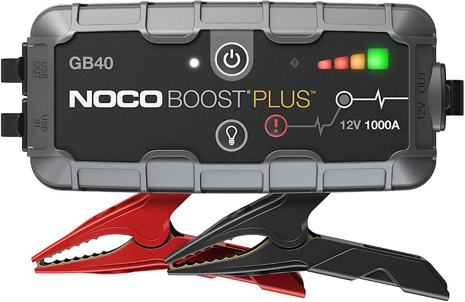 NOCO Boost Plus Portable Lithium Car Battery Jump Starter Pack. Image via Amazon.