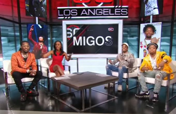 Migos Talks the Dab's Origins, Watching the Atlanta Falcons Piss Away the Super Bowl on 'SportsCenter'