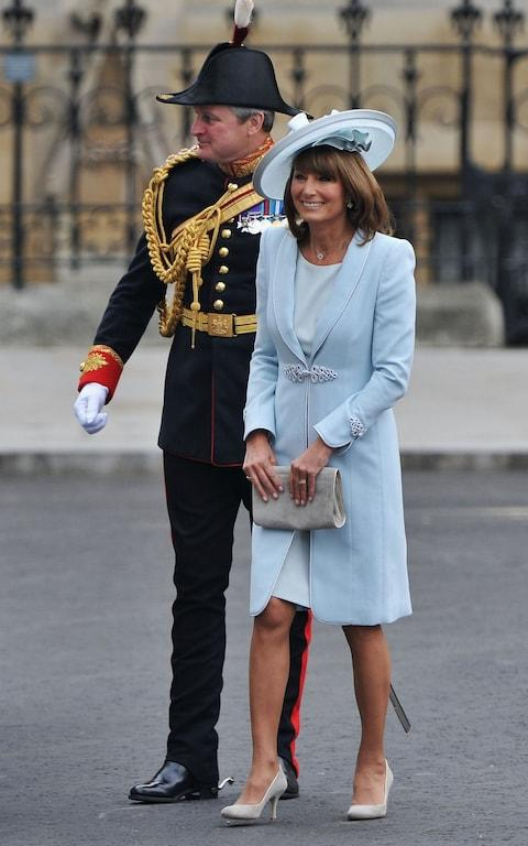Carole Middleton at her daughter Catherine's royal wedding in 2011 - Credit: Getty