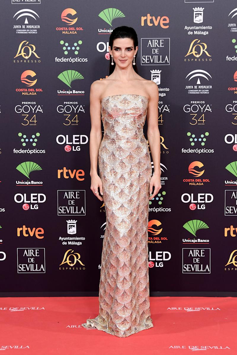 MALAGA, SPAIN - JANUARY 25: Clara Lago attends the Goya Cinema Awards 2020 during the 34th edition of the Goya Cinema Awards at Jose Maria Martin Carpena Sports Palace on January 25, 2020 in Malaga, Spain. (Photo by Carlos Alvarez/Getty Images)