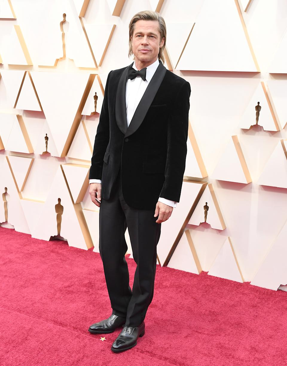 HOLLYWOOD, CALIFORNIA - FEBRUARY 09: Brad Pitt  arrives at the 92nd Annual Academy Awards at Hollywood and Highland on February 09, 2020 in Hollywood, California. (Photo by Steve Granitz/WireImage)
