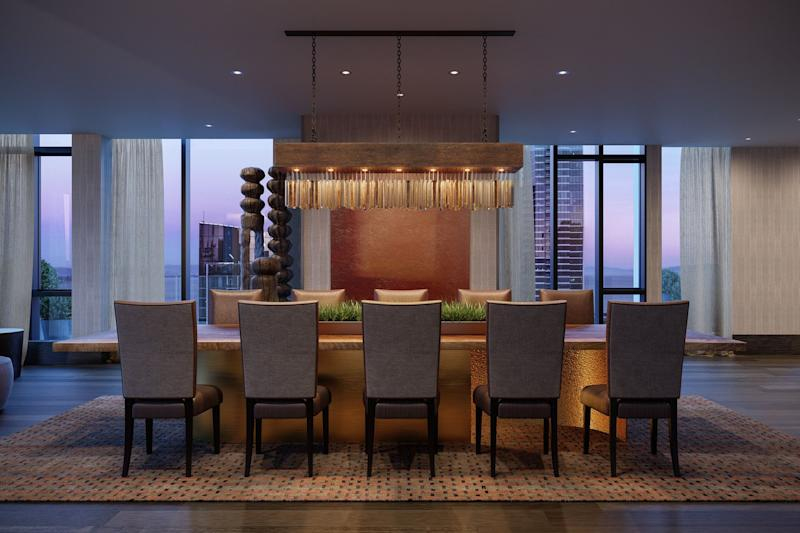 The Avery's private dining room, rentable by the hour, includes its own dedicated kitchen. Source: The Avery
