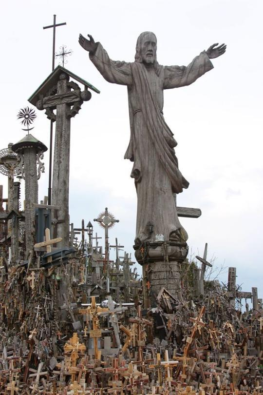 "<p><a href=""http://www.pointsandtravel.com/lithuania-hill-of-crosses/"" rel=""nofollow noopener"" target=""_blank"" data-ylk=""slk:This tiny hill"" class=""link rapid-noclick-resp"">This tiny hill</a> is covered in crosses of all sizes from around the world — more than 400,000. Symbolzing Lithuanian Christians' hope and perseverance against a history of persecution, the site is awe-inspiring and draws waves of Christian pilgrims to the country. —<i>Cacinda Maloney, <a href=""http://www.pointsandtravel.com/"" rel=""nofollow noopener"" target=""_blank"" data-ylk=""slk:Points and Travel"" class=""link rapid-noclick-resp"">Points and Travel</a></i></p>"
