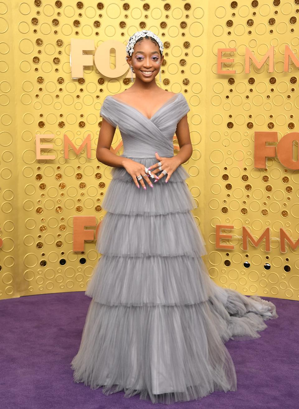 """<h1 class=""""title"""">Eris Baker in Tadashi Shoji and Hearts on Fire jewelry</h1><cite class=""""credit"""">Photo: Getty Images</cite>"""