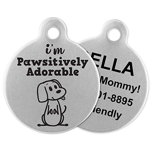 If It Barks - Engraved Pet ID Tags for Dogs - Personalized Stainless Steel Identification Tags - Custom Name Tag Attachment - Made in USA (Amazon / Amazon)