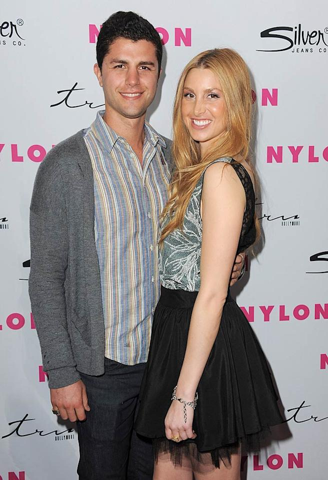 "Former ""Hills"" starlet Whitney Port -- sporting a a tulle Asos skirt and a print top -- brought her boyfriend, Ben Nemtin, along for the fun. Jordan Strauss/<a href=""http://www.wireimage.com"" target=""new"">WireImage.com</a> - March 24, 2011"